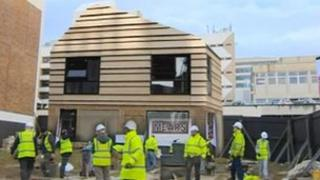 The house under construction at Grand Parade, University of Brighton
