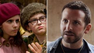 Kara Hayward and Jared Gilman in Moonrise Kingdom and Bradley Cooper in Silver Linings Playbook