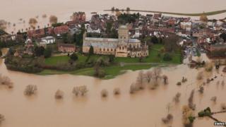 Tewkesbury indundated