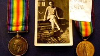 Medals and photo