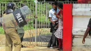 Sri Lanka protest at Jaffna University - picture taken 28 November