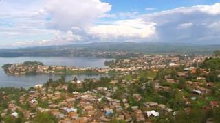 The lakeside city of Bukavu in eastern DR Congo