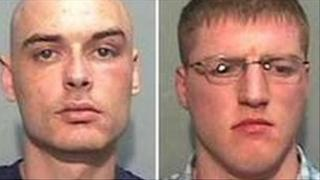 Nigel Brown, now 29, and Gary Taylor, 26, failed to have their convictions overturned