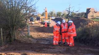 Network Rail had to build a road to transport equipment and materials to the site
