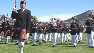 Lothian and Borders Police pipe band in Colorado