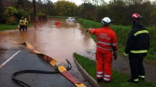 Flood in Devon