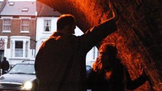 Man talking to prostitute