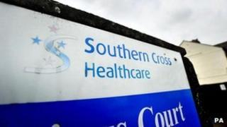 Southern Cross Healthcare sign