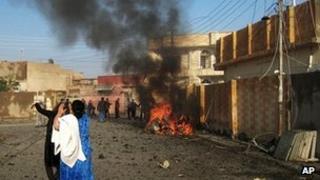 Bomb blast in Kirkuk, Iraq. 27 Nov 2012