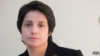 Nasrin Sotoudeh pictured in 2008