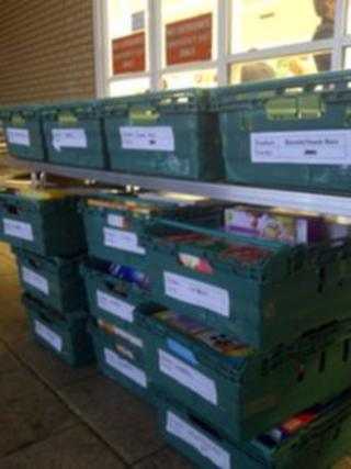 Food bank collection in Midsomer Norton