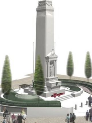 An artist impression of how Preston cenotaph will look