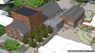 Artist's impression of Greyfriars Arts Centre