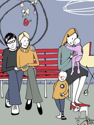 Artwork of family
