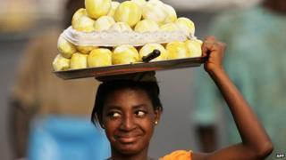 Ghana fruitseller