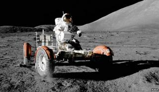 "Harrison ""Jack"" Schmitt on the Moon"