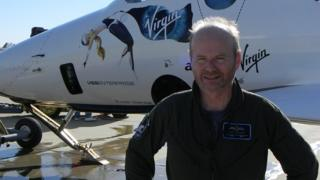 Chief Pilot Dave Mackay after his inaugural flight in SpaceShipTwo. Photo by Jeff Peters
