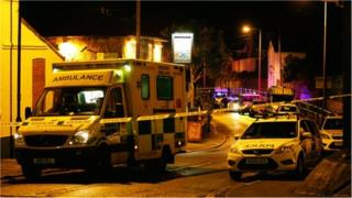 Emergency services at scene of incident in Shanklin