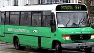 Western Greyhound bus