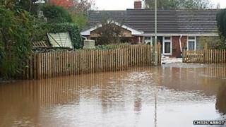 Feniton flooding, November 2008