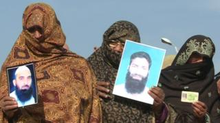 Protest in Islamabad Monday (10 December 2012) staged by family members of missing people in Swat