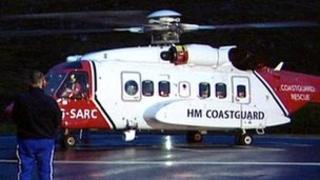 Shetland Coastguard helicopter