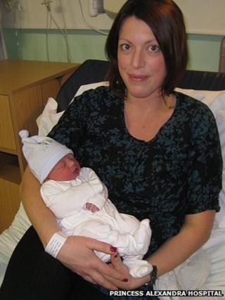 Hannah MacLennan and baby Oliver