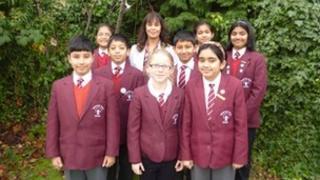 pupils with head teacher
