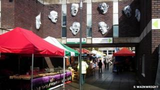 Market at Daniel Owen Precinct, Mold