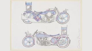 Grayson Perry's designs for his motorbike