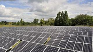 Howbery Solar Park in Oxfordshire
