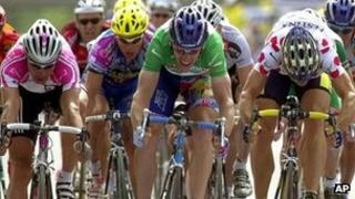 Tour de France in action