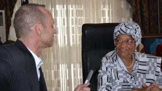 President Johnson Sirleaf – who won the Nobel Peace Prize in 2011 – has won praise for her efforts to get Liberia's national debt written off.
