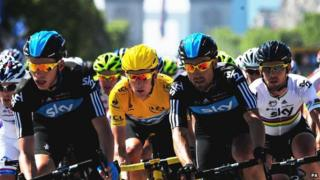 Cyclists in the Tour de France in 2012