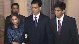 Jacintha Saldanha's husband and two children