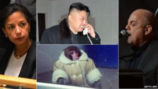 Susan Rice, Kim Jong Un, Monkey in a fur coat, Billy Joel
