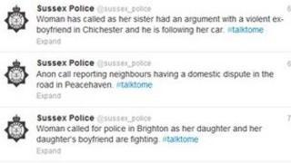 Sussex Police tweets