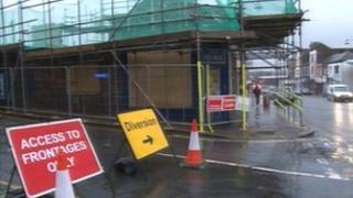 Demolition work on Broad Street Stoke-on-Trent