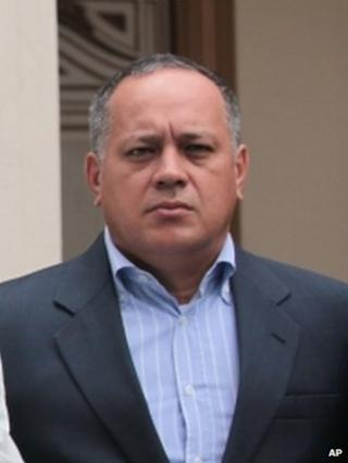 Diosdado Cabello on 12 December 2012