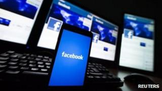 Facebook running on devices