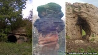 Bob's Rock, The Hemlock Stone and the Druid Stone