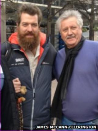 Phil Packer and TV chef Brian Turner