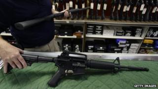 Bushmaster AR15 rifle
