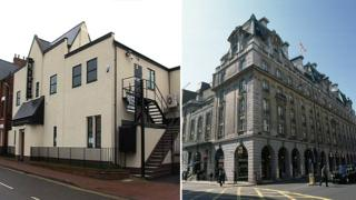 The Ritz in Desborough, Northamptonshire (left) and The Ritz in London (right)