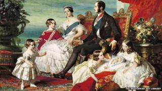 Painting of Queen Victoria, Prince Albert and their family in 1846 - courtesy of Bridgeman Art Library