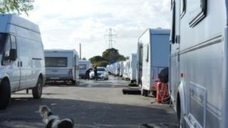 caravans in Oak Lane