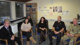 Linford House meeting armed forces personnel