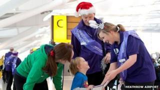 Volunteers at Heathrow