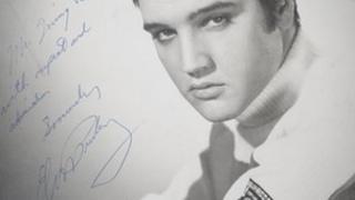 Elvis Presley signed picture