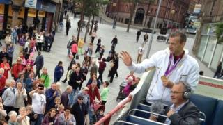 Richard Whitehead in Old Market Square